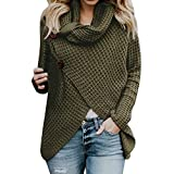 Save 45%~Clearance !!! YANG YI,Women's Casual Stylish Solid Round Neck Long Sleeves Sweatshirts Tops T-Shirt Pullover