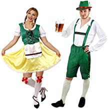 ILOVEFANCYDRESS - Disfraz de pareja de traje bávaro para adultos (varias  tallas) bae133258ff