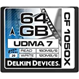 Delkin Devices DDCF1050-64GB Carte Mémoire CompactFlash 64 Go
