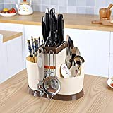 #7: Klaxon Multi Functional Chopsticks Basket - Spoons, Knife & Other Kitchen Cutlery Storage Holder Stand