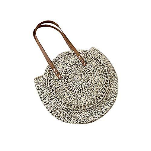 louzheni Mode Damen Strohtasche Strandtasche Umhängetasche Outdoor Handtasche Schultertasche Shopper Henkeltasche Clutches Tragetaschen Geldbörsen Taschen