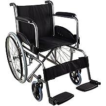 Sedia a rotelle pieghevole ad autospinta | Braccioli e poggiapiedi fissi | Sicura e robusta | Seduta e schienale ergonomici | Larghezza seduta: 46 cm | Peso massimo sopportato: 100 Kg | Modello Alcazaba | Mobiclinic