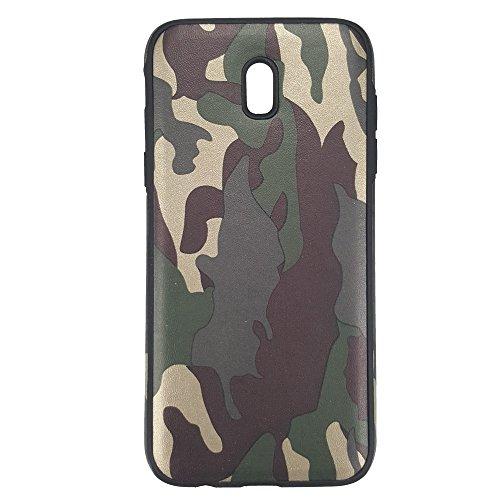 bagmaxx Handy Tasche TPU Case Flexi Camouflage Schutz Hülle Cover Tarn Muster Military Design Leicht Galaxy J3 (2017) Handy-camouflage-design