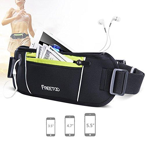 FREETOO-Marsupio-Running-Cintura-Corsa-Risparmio-di-Spazio-per-Sport-e-Tempo-Libero-compatibile-con-il-telefono-fino-da-55