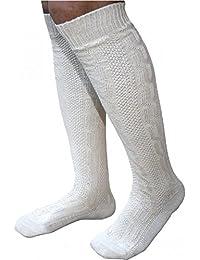 Herren Trachtensocken / Trachtenstrümpfe der Marke FROHSINN – Trachtensocken / Trachtenstrümpfe, wahlweise in den Farben weiß oder beige – in den Größen 41-46 – Ideal zur Lederhose