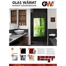Infrarotheizung Infrarot 450 Watt Metall-Premium Weiss Glaswärmt Heizung