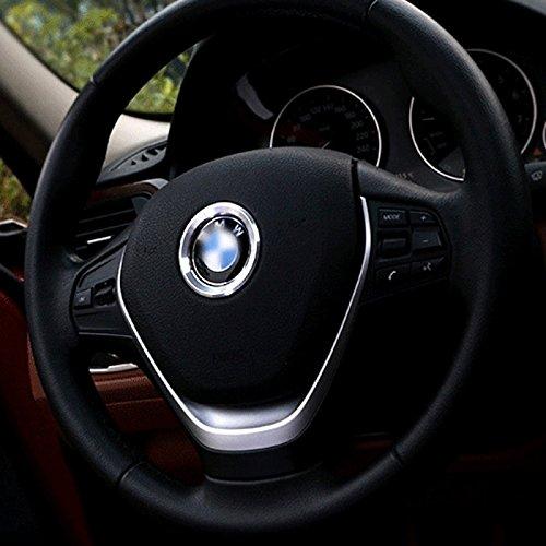Argento cromato in alluminio adesivo anello adesivo Decoratin Fits B m W Steering Wheel 45mm logo stemma Series 12345678X1X2X3X4X5X6Z3Z4GT
