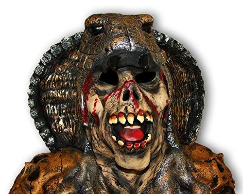 Cobra Maske Schlangenmonster mit Umhang Halloween ()