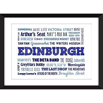 Edinburgh – Eine Feier Typografie Druck