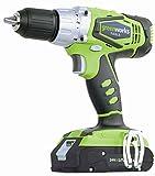 Greenworks Tools 3700507VC Perceuse-visseuse sans fil 24V Li-ion avec 2 batteries de 2Ah et chargeur