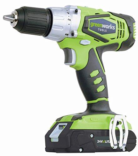 Preisvergleich Produktbild Greenworks Akkubohrschrauber 24 V inkl. Akku 2,0 Ah Ladegerät Koffer Schrauber