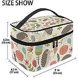 Cartone animato riccio lumaca fiori grande borsa cosmetica viaggio organizzatore trucco titolare della cassa per le donne ragazze borsa da toilette, 23X17X16 cm