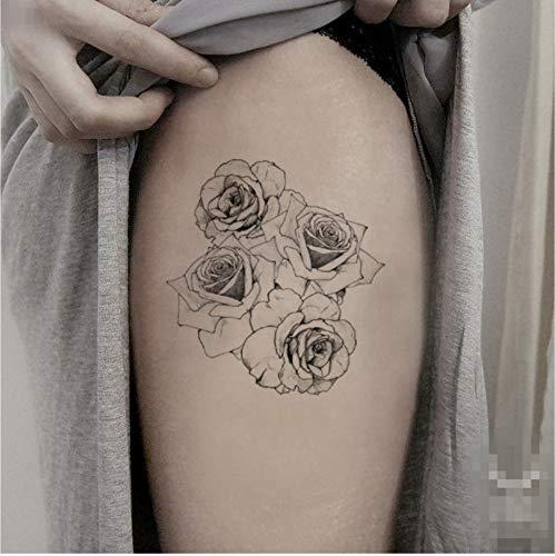 ruofengcp Floral Temporäre Tätowierung Aufkleber Wasserdichte Weibliche Mädchen Make-Up Body Art Bein Gefälschte Tätowierung 10X10 cm (Tattoos Floral Temporäre)