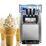 Genmine Eismaschine 1200W Eiscreme Maschine mit Kompressor Edelstahl Icemaker