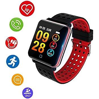 Reloj Inteligente, Smartwatch Pulsera Actividad Inteligente Impermeable IP67 Pantalla Color Pulsera Podómetro con Pulsómetro,