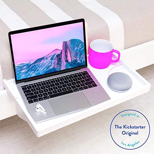BedShelfie Plus Das Original Nachttisch Regal - 3 Farben / 2 Größen - GESEHEN AUF Business-Insider und Kickstarter (Plus Größe, Bambus in Weiß) -