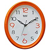 #8: Ajanta Wall Clock For Home And Offices (30 cm x 26 cm , Step Movement, Orange)