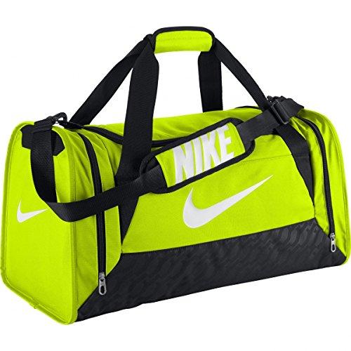 Nike Duffel Grip Drum Brasilia 6, Volt/Black/White, 50 x 25 x 5 cm, 5 Liter, BA4829-712