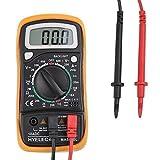 Multímetro Digital Multi Tester Voltímetro Amperímetro Ohmetro AC / DC Tensión Corriente Resistencia Diodos, con LCD Retroiluminación, Pilas no inclui