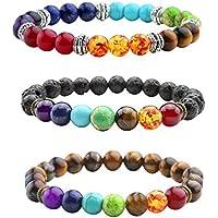 JOVIVI Schmuck Set ,3er Natürlich Edelstein Armband Chakra Balance Armreif Energietherapie Healing Balance Buddha-Armband preisvergleich bei billige-tabletten.eu