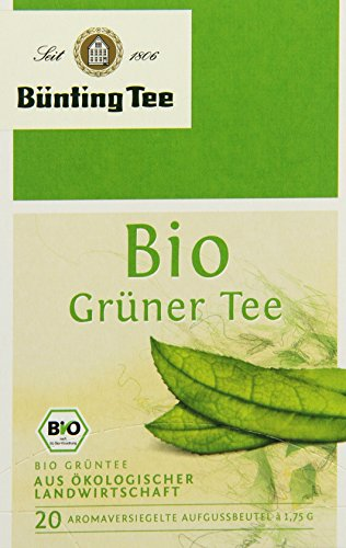 Bünting Tee Bio Grüner 20 x 1.75g Beutel, 3er Pack (3 x 35 g)