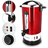 Navaris Glühweinkocher Heißwasserspender aus Edelstahl - 10 Liter - mit Thermostat Füllstandanzeige Zapfhahn - Glühwein Heißgetränkeautomat Vergleich