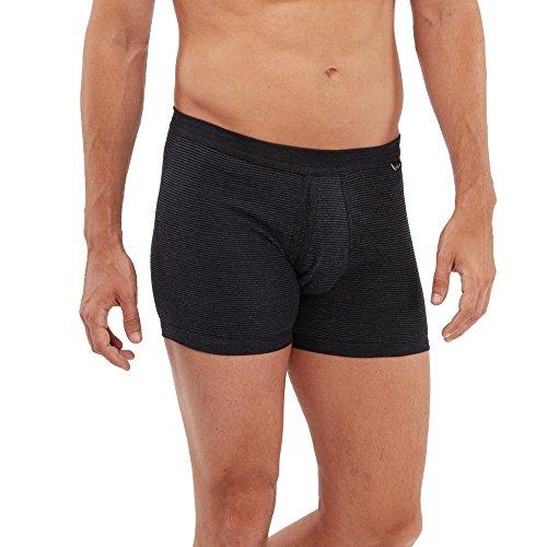 SCHÖLLER Herren Unterhose mit Eingriff I 146-320 I Größe 6 (L) I Farbe Schwarz-Melange