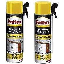 2 x Pattex 1 K Power de espuma de poliuretano de puertas y bastidor ...