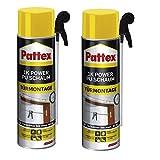 2 x Pattex 1K Power PU-Schaum-Türen und Zargen 500 ml