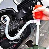 #8: Avive Hand Manual Gas Oil Water Liquid Transfer Pump Siphon Hose for Car Motorcyle Truck Car Liquid Pump - Manual Hand Siphon Pump for Liquid Fuel Water Transfer