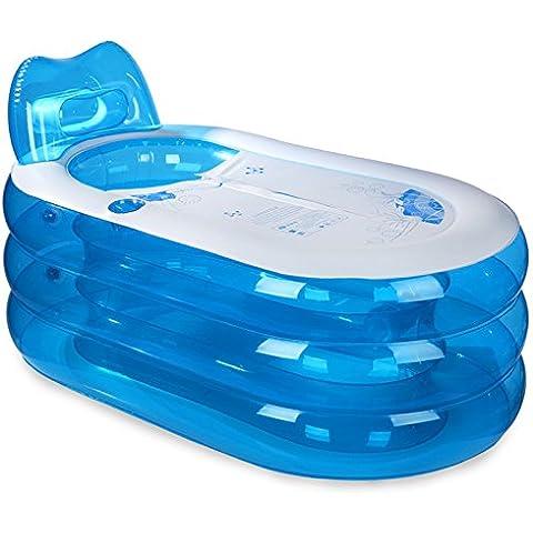 RRJH Gonfiabile di vasca idromassaggio per adulti adulti pieghevole imbottita