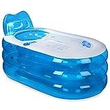 Die Badewanne Transparente Blaue aufblasbare Badewanne Material: PVC Größe: (Außen) L130 * W82 * H73cm (Innen) L95 * W43 * H50cm (Farbe : A)