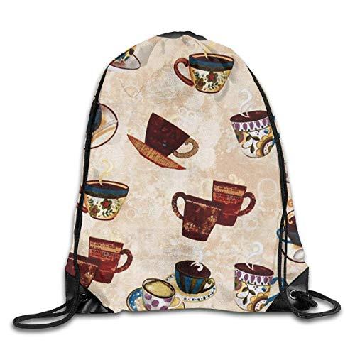 Naiyin Hot Coffee Drawstring Backpack Bag Rucksack Shoulder Sackpack Sport Gym Yoga Runner Beach Hiking Dance (Erwachsenen Store Hot Stuff)