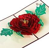 Keep Sake, 3D-Rose, Pop-up-Karte, Geburtstagsgeschenk, Valentinstag, Liebe, Rot