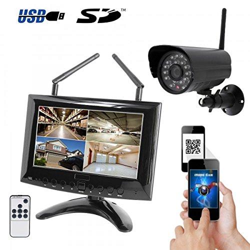 HaWoTEC HD IP Digitales Echtzeit Funk-Überwachungssystem 1 Kamera Smartphone App 100 Fps Dvr-karte