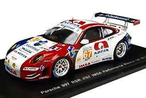 Spark - S3735 - Véhicule Miniature - Modèle À L'échelle - Porsche 997 Rsr Lmgte Am - Le Mans 2012 - Echelle 1/43
