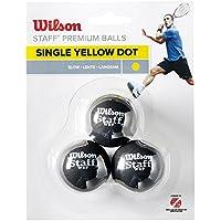 Wilson Staff Single Yellow Dot Squash Balls - Pack of 3
