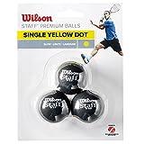 Wilson Staff solo amarillo pelotas de Squash - 3 unidades