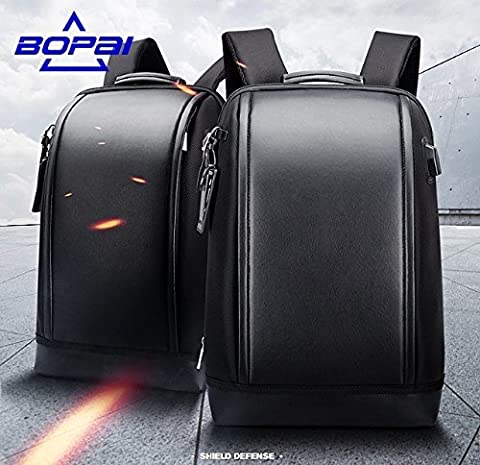 Bopai Business 15.6 inch Laptop Backpack Invisible Water Bottle Pocket