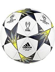 adidas Finale Kiev, Palla Uomo, Bianco/Nero/Solar Yellow/Blu/Clear Aqua/Orange, 5