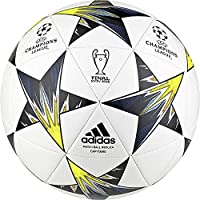 size 40 fcc7f 9e3eb adidas Finale Kiev, Palla Uomo, BiancoNeroSolar YellowBlu