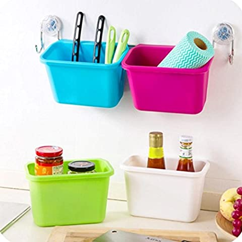 Igemy Creative Cuisine Garbage Box Cabinet portes à suspendre Poubelle Peel Boîte de rangement S rose
