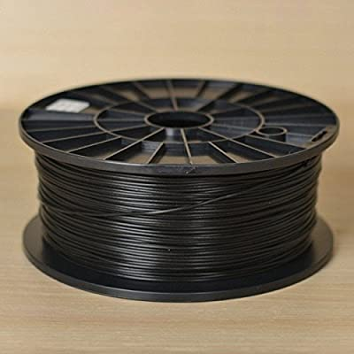 1KG spool of Technologyoutlet BLACK 3.0mm PLA filament for 3D printers from technologyoutlet