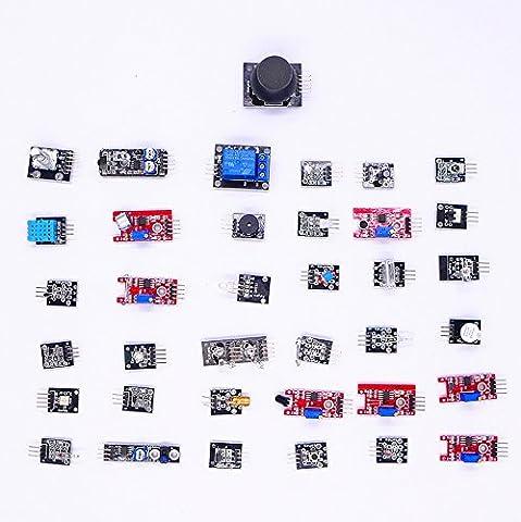 JZK® 37 en 1 Capteurs pack kit capteur avec boîte de protection pour Arduino UNO, Raspberry Pi, MEGA, NANO