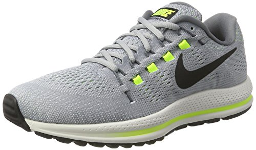 Nike Men s Air Zoom Vomero 12 Wolf Grey Black - Cool Grey 863762-002 Wolf Grey/Black-cool Grey 8 D(M) US  available at amazon for Rs.12445