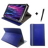 Tablet Tasche für IONIK Global Tab L1001 4G Schutz Hülle Etui Case + Touch Pen - 10.1 Zoll Blau