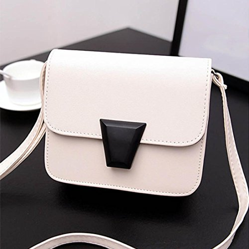 Transer, Borsa a spalla donna Black.White.Blue.Green.Pink White