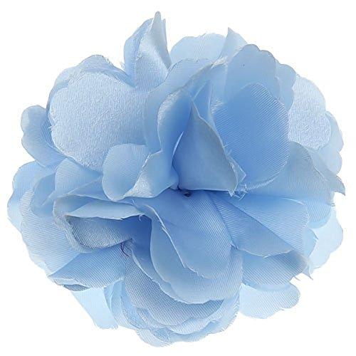 TinkSky beau Satin Style fleur de pivoine-Femme-Broche épingle à cheveux Bleu clair