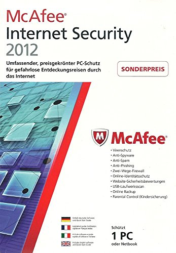 McAfee Internet Security 2012 – 1 User (1 Jahr)