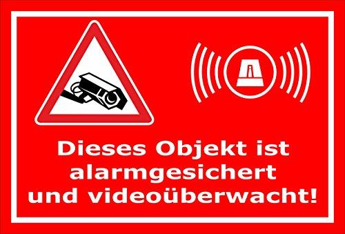Melis Folienwerkstatt Aufkleber - Objekt Video-überwacht - 15x10cm - S00348-017-D 20 VAR Gefälschte Video-Überwachung